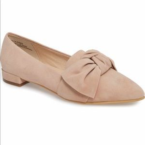 bp by Nordstrom - Blush Suede Bow Flat / Loafer